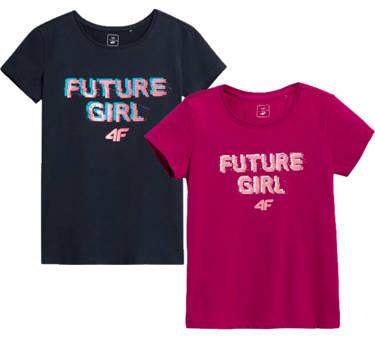 Zestaw koszulek dziewczęcych 4F JTSD007 2pak