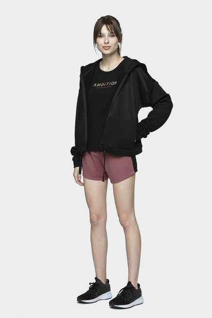 Bluza damska 4F BLD013 czarna z kapturem