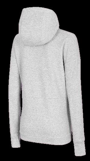 Bluza damska 4F BLD015 jasno szara z kapturem