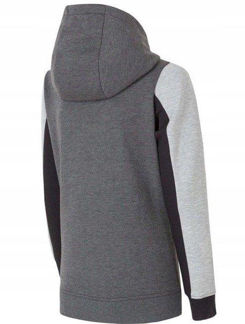 Bluza damska z kapturem 4F szary melanż S
