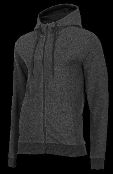 Bluza męska 4F BLM018 na zamek ciemno szara