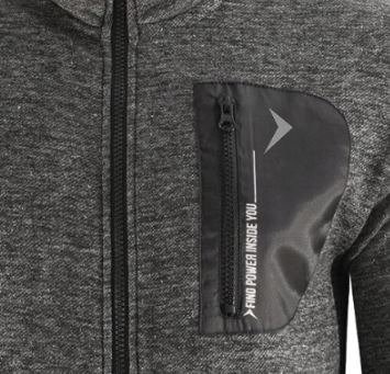 Bluza męska BLM610 rozpinana ciepła szara