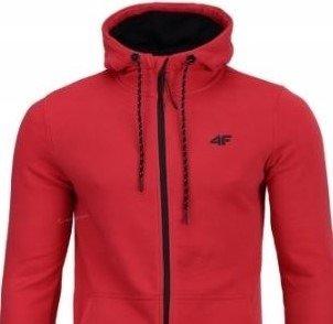Bluza męska rozpinana 4F BLM004 czerwona