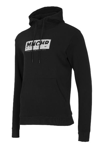 Bluza męska z kapturem 4F BLM023 czarna