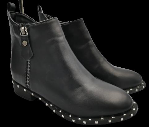 Botki damskie elegancki 3282-1 zimowe czarne