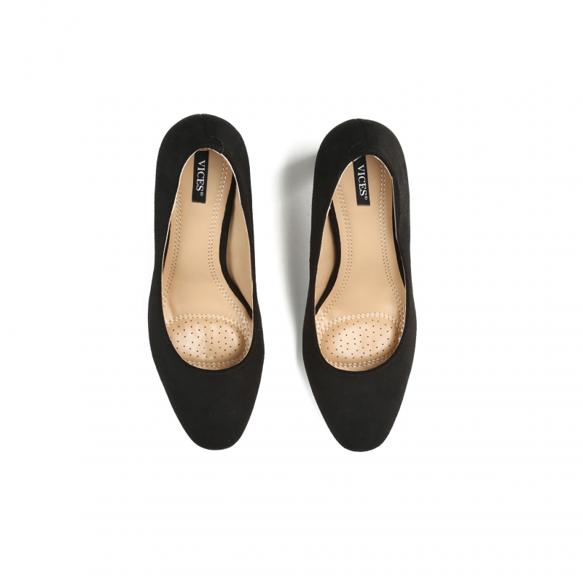 Buty damskie na obcasie 9144-1 czółenka czarne