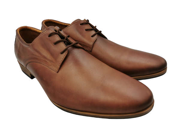 Buty eleganckie skórzane 0-90 brązowe
