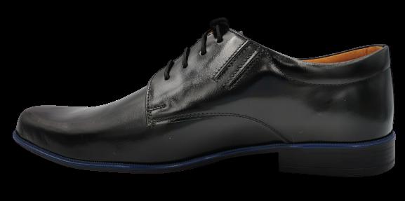 Buty eleganckie skórzane 262 półbuty czarny