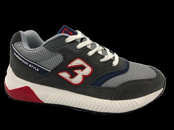 Buty sportowe młodzieżowe B0057-12 szare
