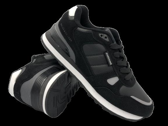 Buty sportowe młodzieżowe B9202-1 czarne