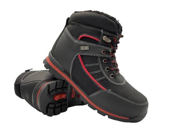 Buty zimowe dziecięce A4669  trapery czarne 34