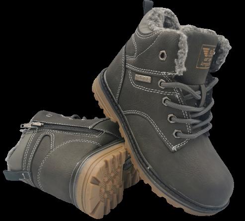 Buty zimowe dziecięce C737-1 -3 trapery szare