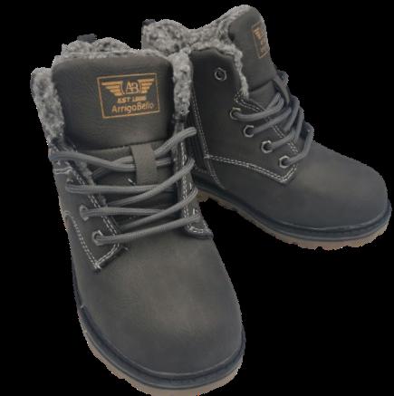 Buty zimowe dziecięce C7371-3 trapery szare