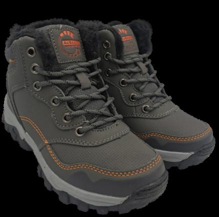 Buty zimowe dziecięce CP7396-3 trapery szare