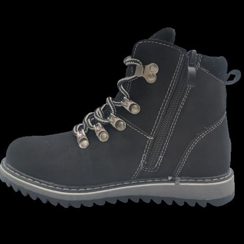 Buty zimowe dziecięce H-151 trapery czarne