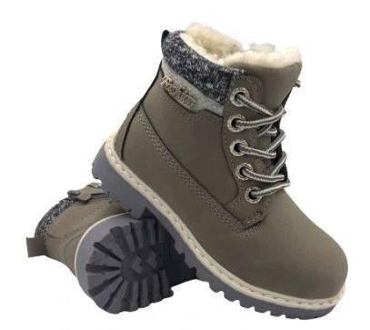 Buty zimowe dziecięce trapery D181-3 szare
