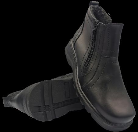 Buty zimowe męskie 110  skórzane trapery czarne