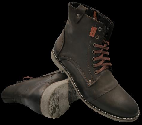 Buty zimowe męskie K017 skórzane ocieplane