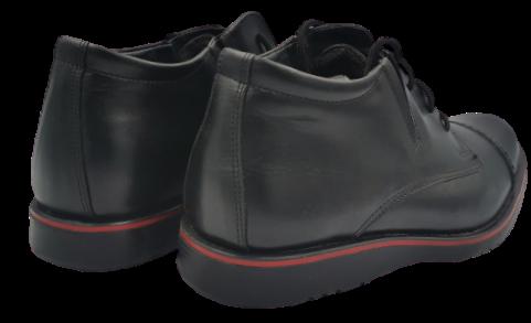 Buty zimowe męskie K15 wysokie skórzane czarne