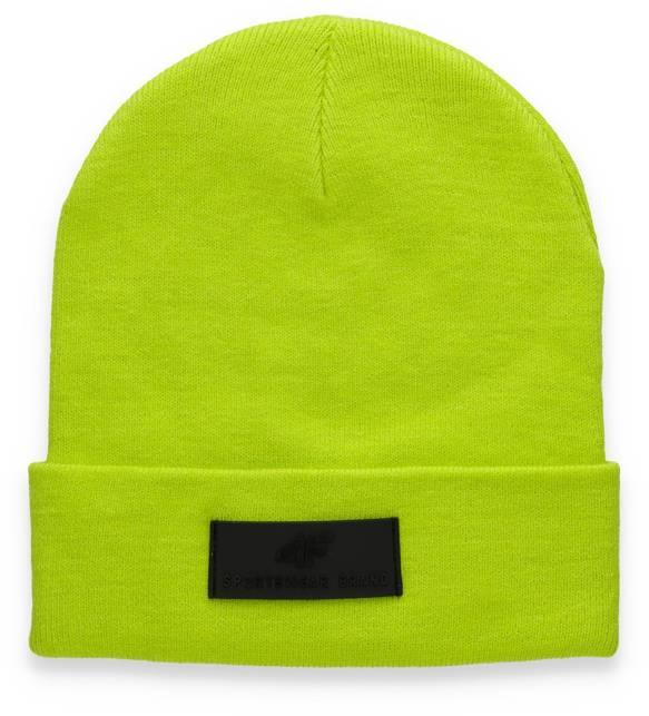 Czapka męska 4F CAM013 ciepła zielony neon