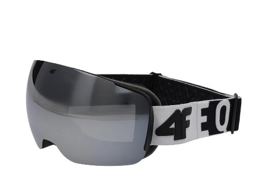 Gogle narciarskie 4F GGM061 czarno-białe one size