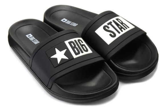 Klapki czarne Big Star obuwie DD174699 906