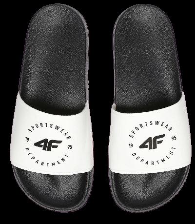 Klapki damskie 4F KLD001 biało-czarne