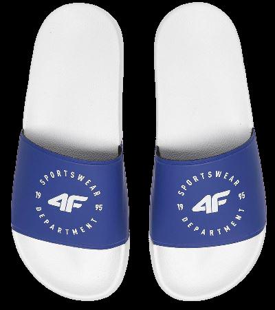 Klapki damskie 4F KLD002 niebiesko-białe