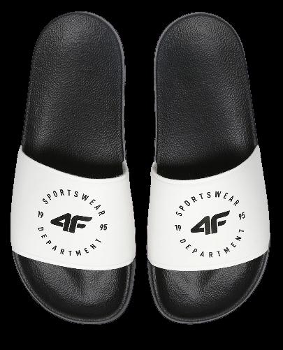 Klapki męskie 4F KLM001 białe