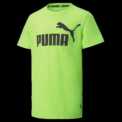 Koszulka dziecięca z bawełny PUMA zielona