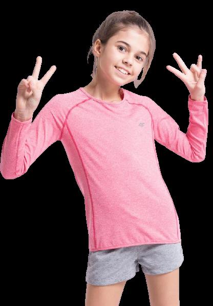 Koszulka z długim rękawem 4F Longsleeve róż