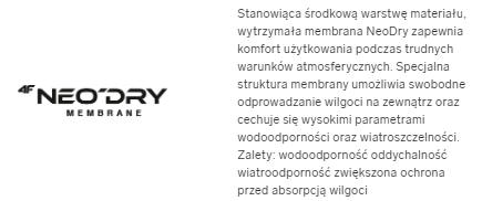 Kurtka męska 4F KUM002 NIEBIESKA