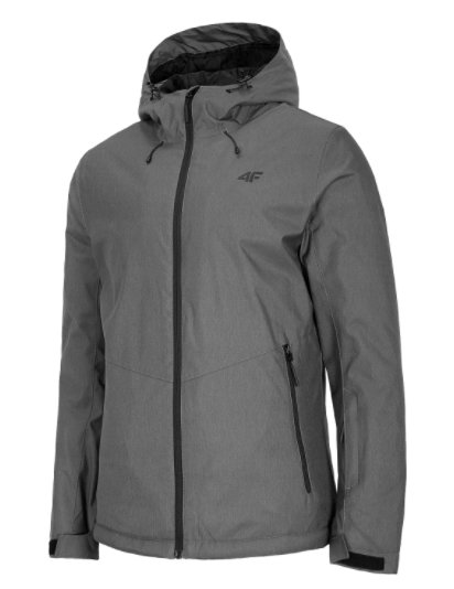 Kurtka męska zimowa narciarska KUMN001 4F szara