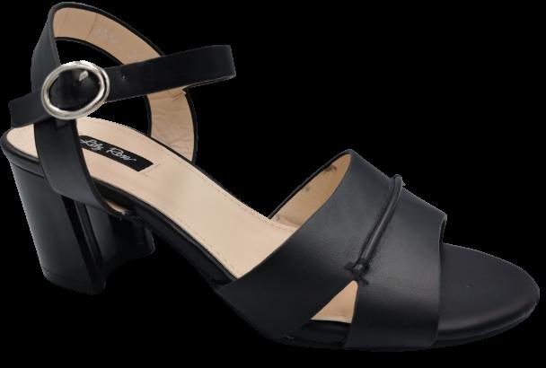 Sandały damskie na słupku 1498-1 czarne 36