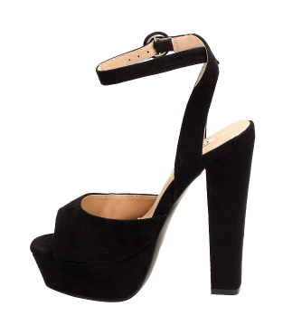 Sandały damskie wysokie na słupku czarne 1231-1