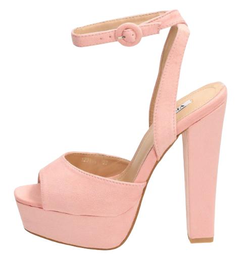 Sandały różowe eleganckie na słupku 1231-20