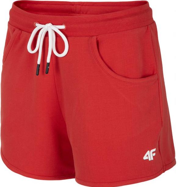Spodenki damskie dresowe 4F SKDD001 czerwone