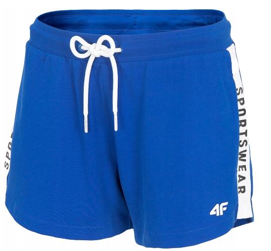 Spodenki damskie dresowe 4F SKDD003 niebieskie