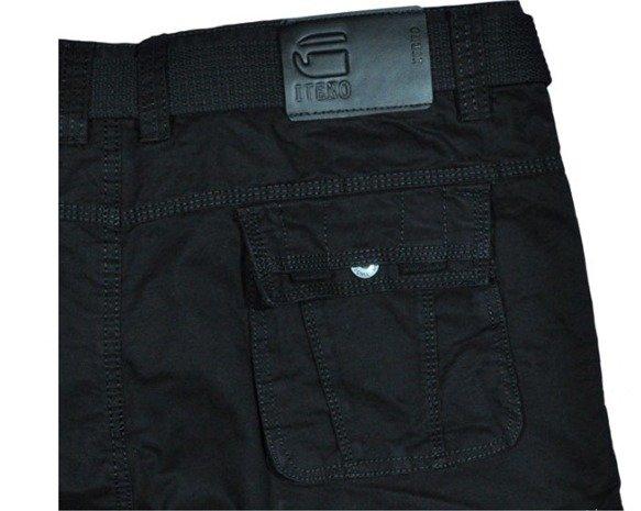 Spodnie bojówki myśliwskie czarne 9026 6