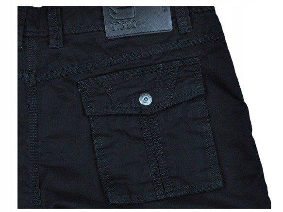 Spodnie bojówki myśliwskie czarne D8813 1