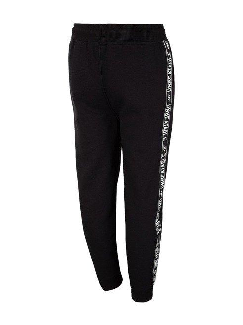 Spodnie chłopięce 4F JSPMD001 GŁĘBOKA CZERŃ