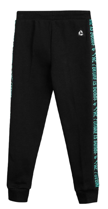 Spodnie chłopięce 4F JSPMD002 dresowe czarne