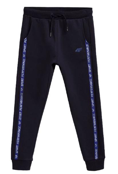 Spodnie dresowe chłopięce 4F JSPMD006B GRANAT