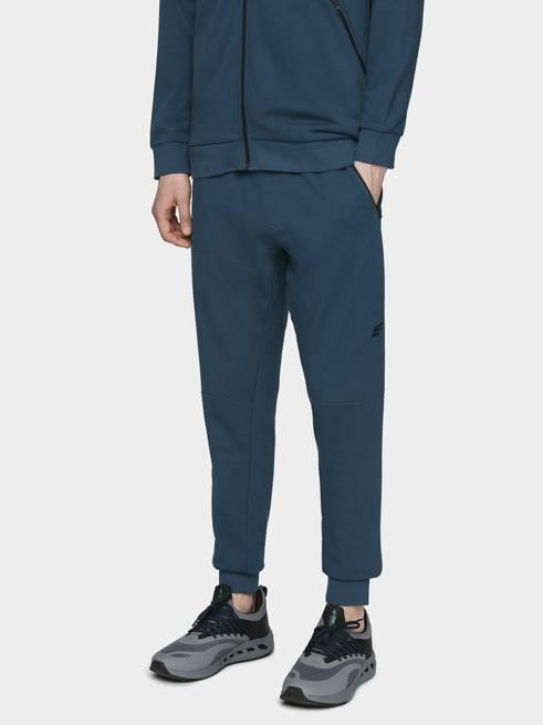 Spodnie męskie 4F dresowe SPMD012 niebieskie
