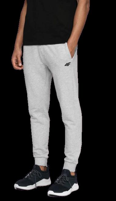 Spodnie męskie dresowe 4F SPMD001 JASNY SZARY