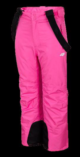 Spodnie narciarskie dziecięce 4F JSPDN001B róż