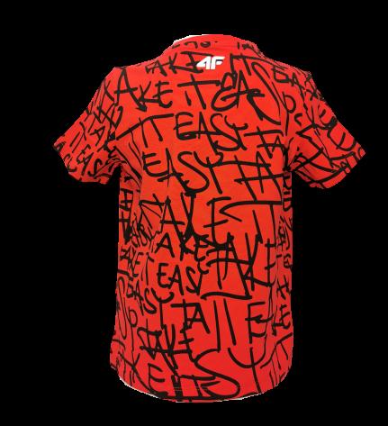 T-shirt chłopięcy 4F JTSM004A bawełniany