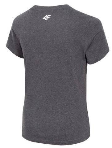 T-shirt chłopięcy 4F JTSM005 koszulka szara