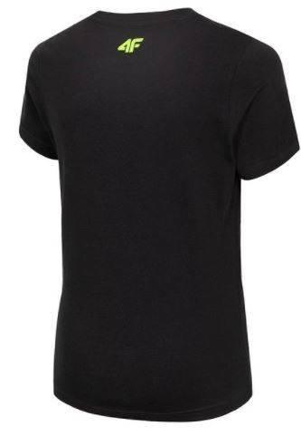 T-shirt chłopięcy 4F czarny JTSM010 bawełniany