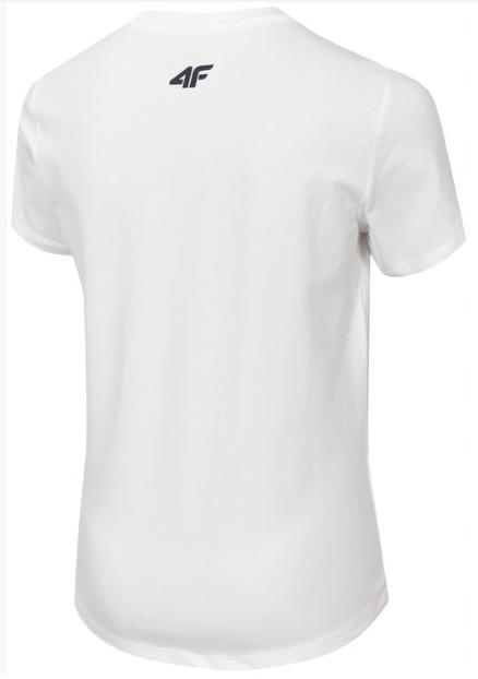 T-shirt chłopięcy JTSM020 BIAŁY